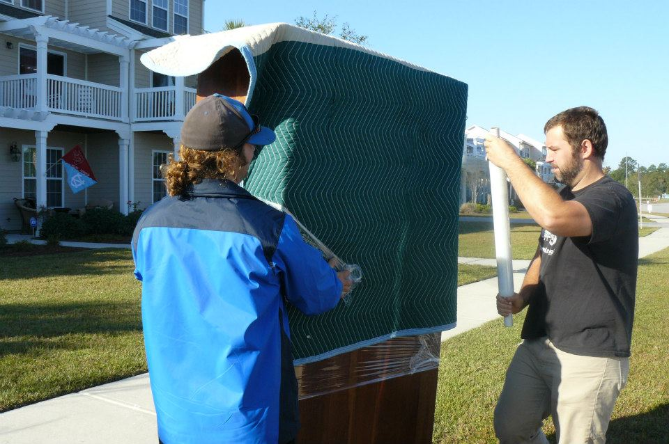 Expert movers, use furniture blankets and protective wrap during our moves